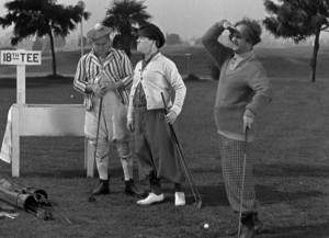 Stooges at 18th tee